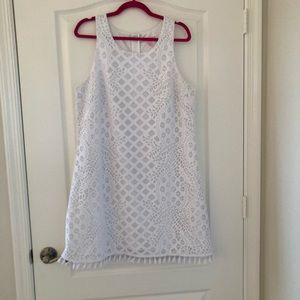Lilly Pulitzer white Stretch dress XL